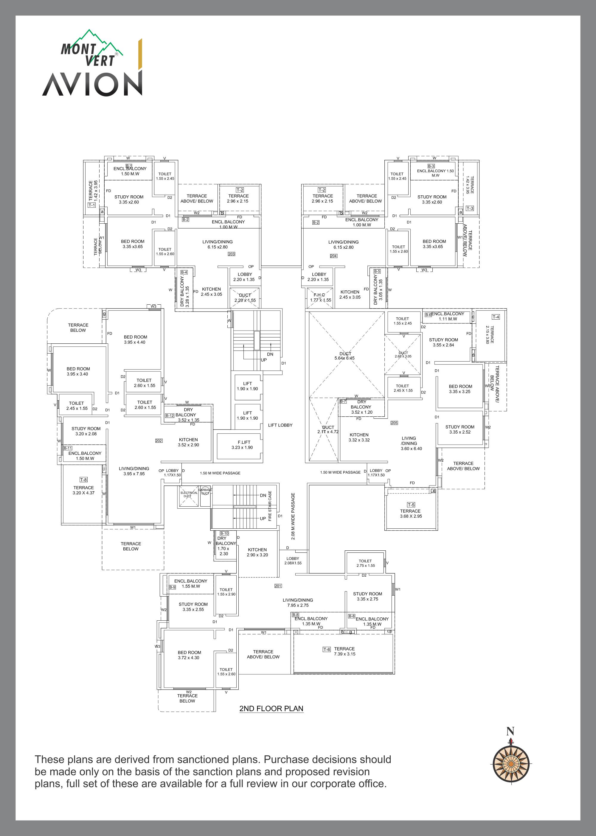 Floor Plans Mont Vert Avion Schematic Typical Even Plan