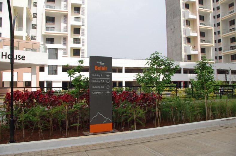 3 BHK Garden Flats In Bhugaon Pune Mont Vert Belair Signs