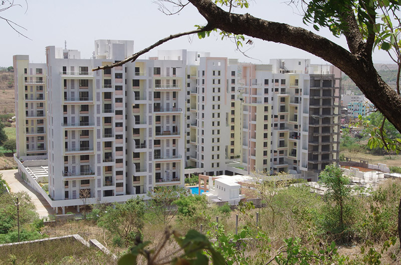2 BHK Flats For Sale In Bhugaon Mont Vert Belair Aerial