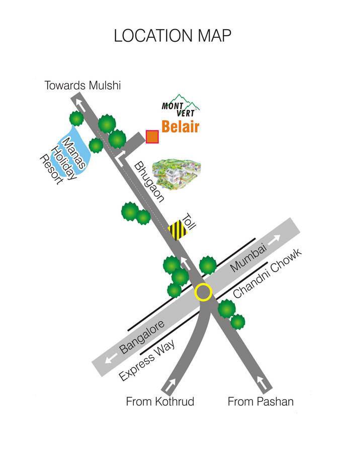 Location Map Mont Vert Belair Bhugaon  Pune