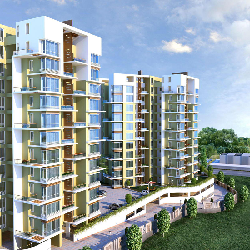 2 & 3 BHK Apartments In Bhugaon