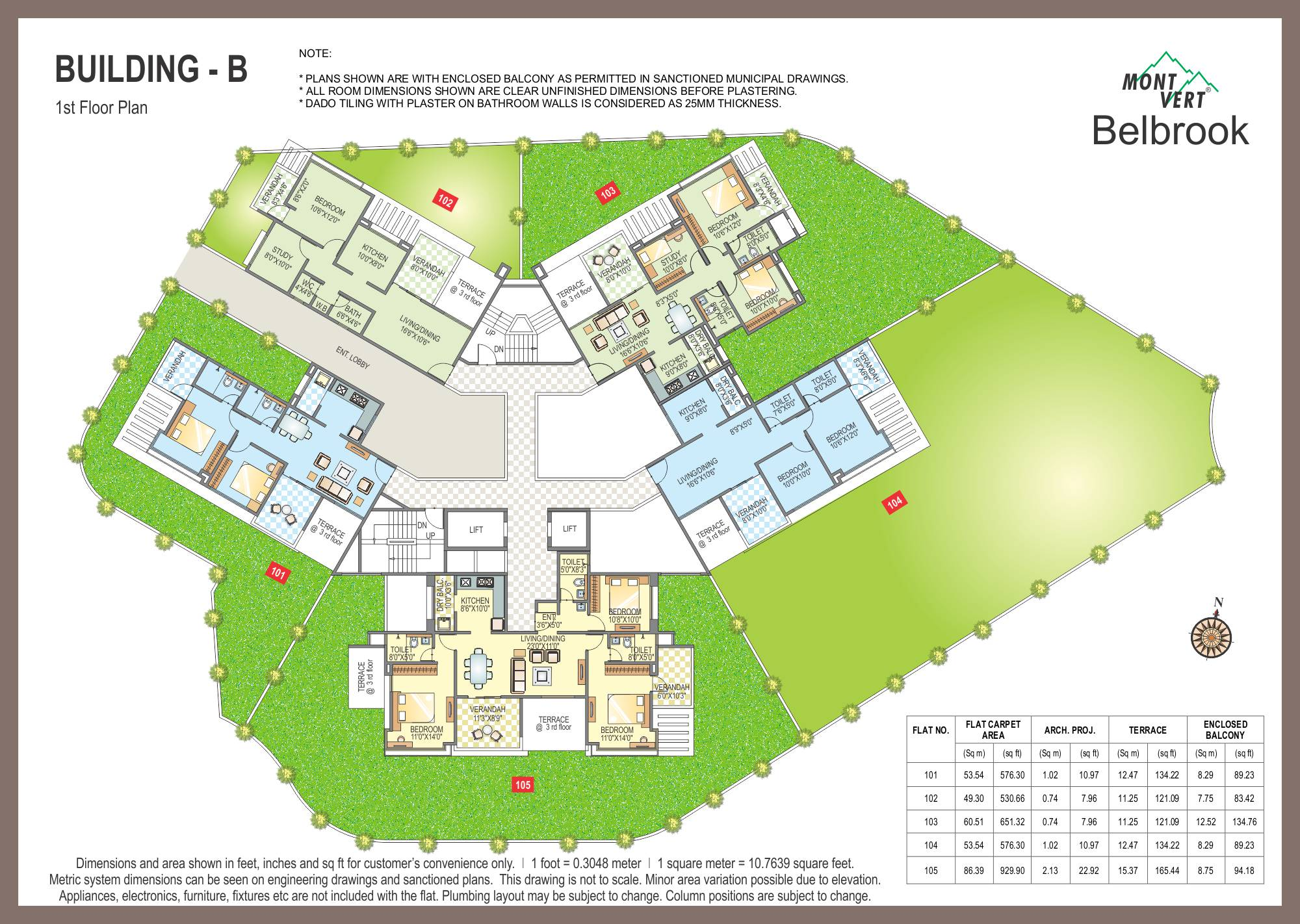 2 BHK Flats In Bhugaon Mont Vert Belbrook B 1st P
