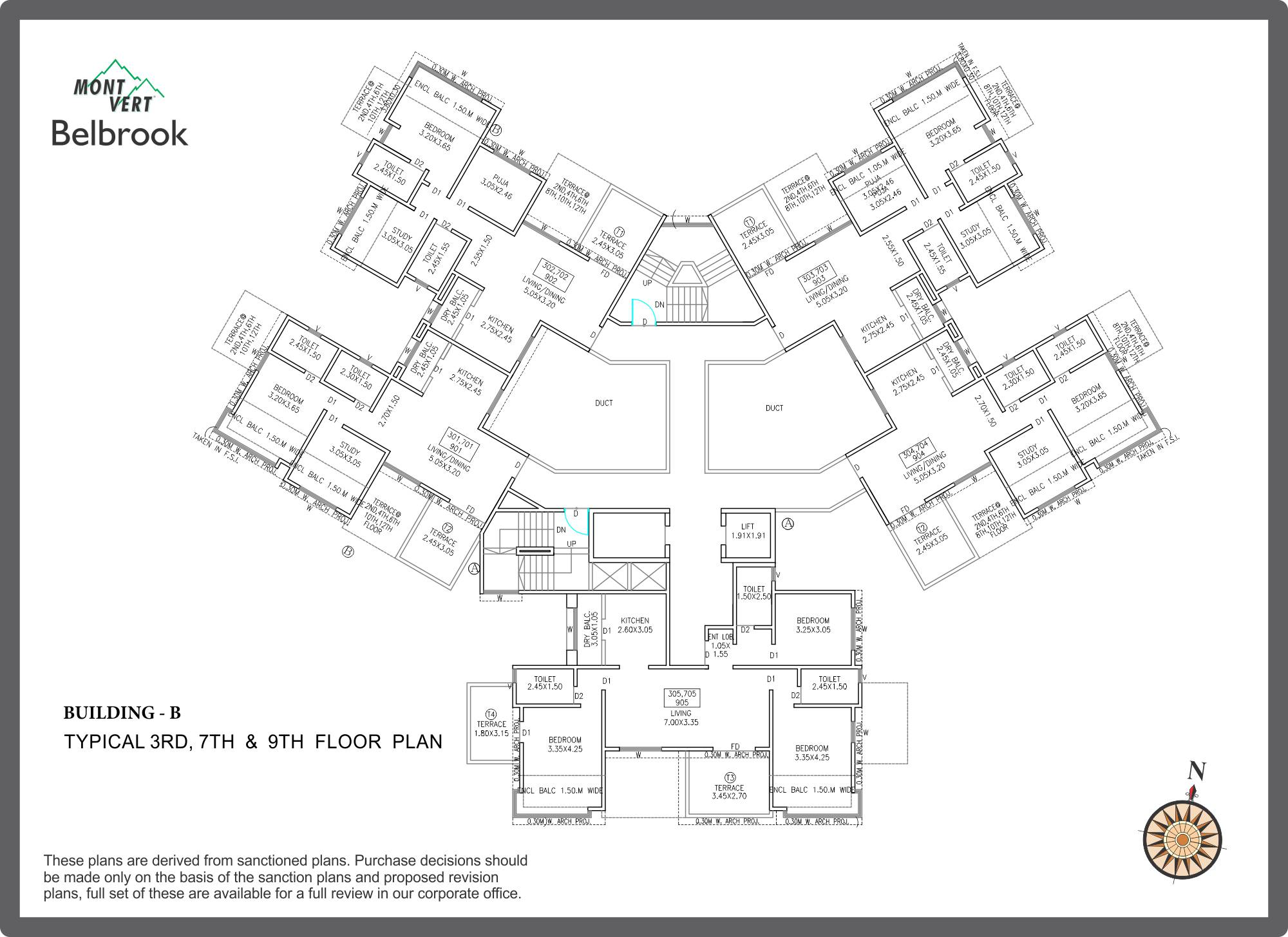 3 BHK Apartments In Bhugaon Mont Vert Belbrook B Odd