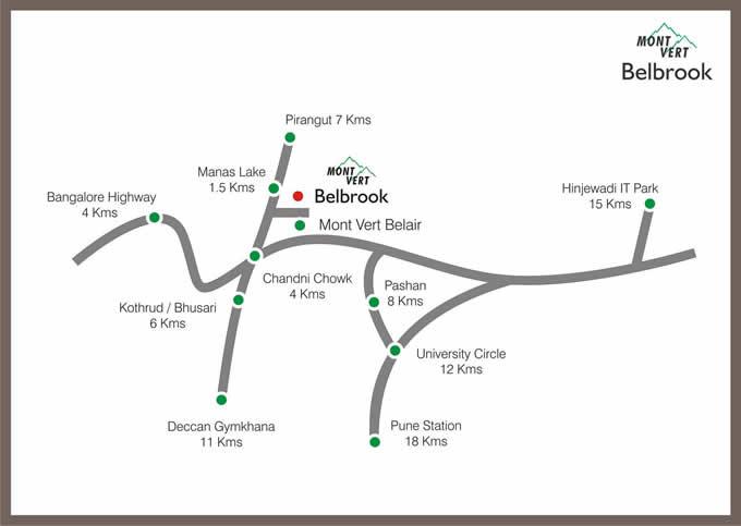 Location Map – Mont Vert Belbrook Bhugaon Pune