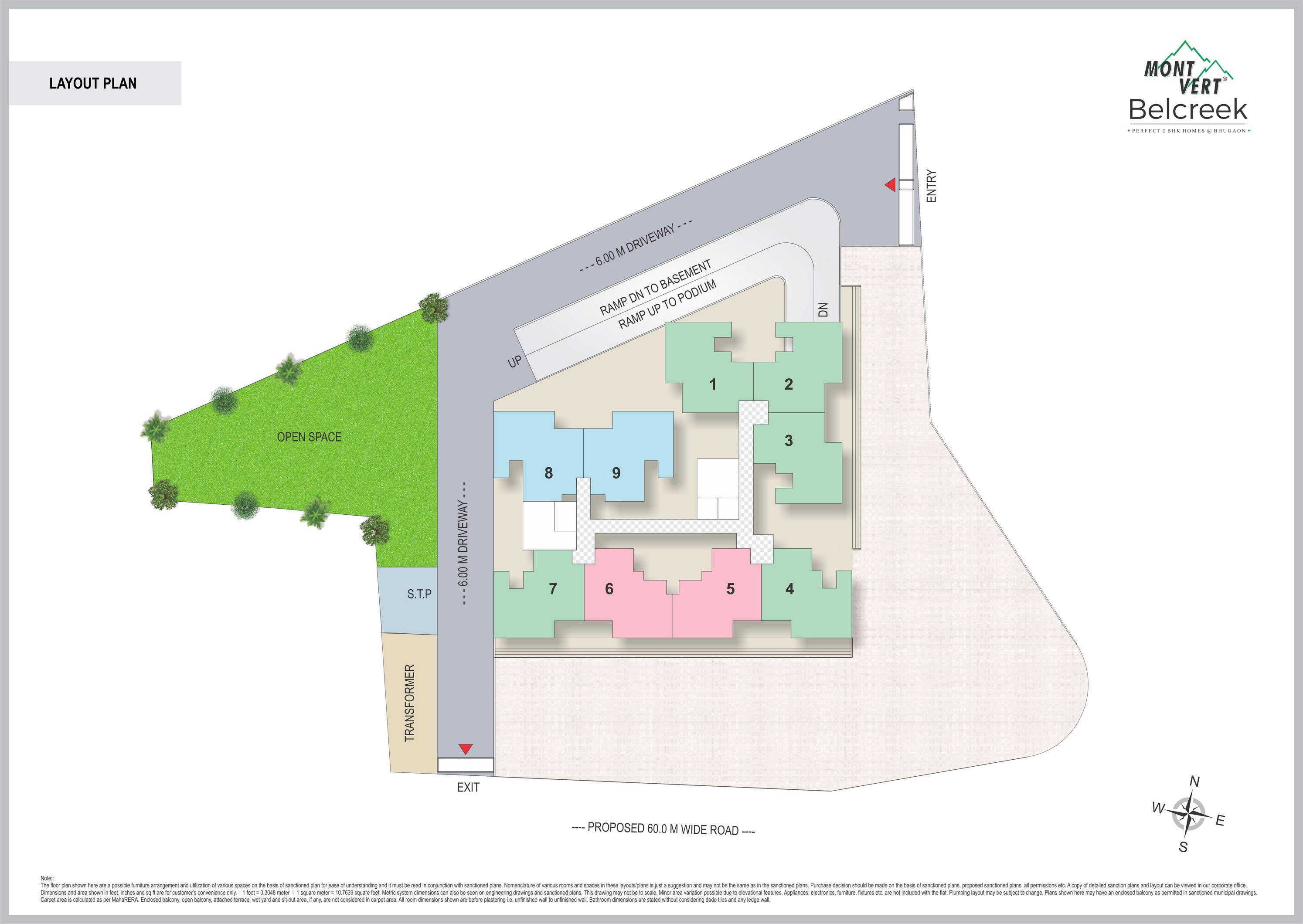Layout Plan – residential-project-in-bavdhan-mont-vert-belcreek-layout-plan