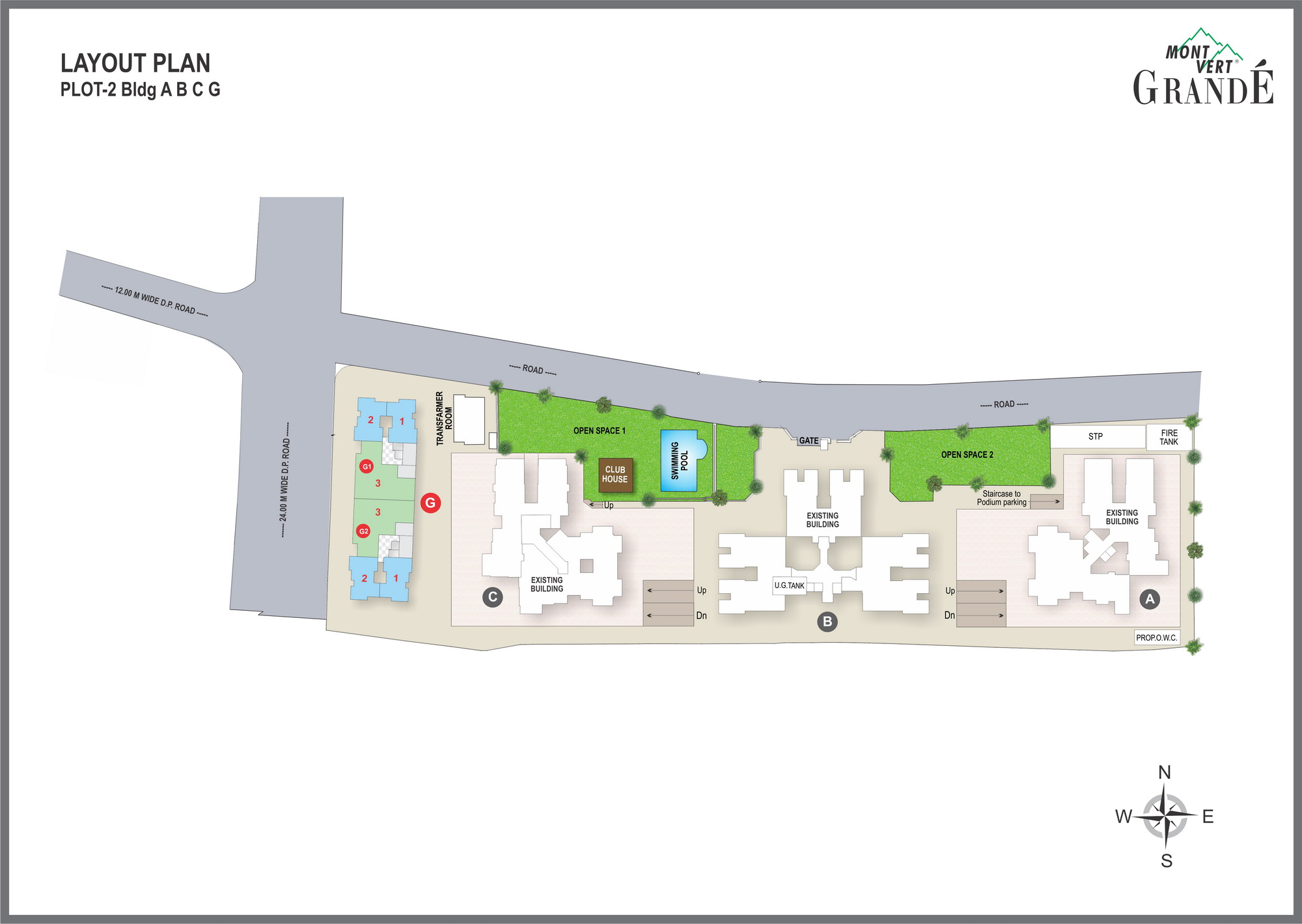 Layout Plan – 2, 3 BHK Flats in Pashan – Mont Vert Grande