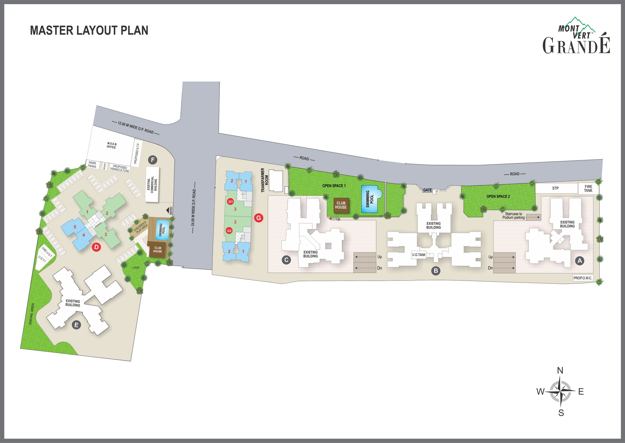 Master Layout Plan – 2, 3 BHK Flats in Pashan – Mont Vert Grande