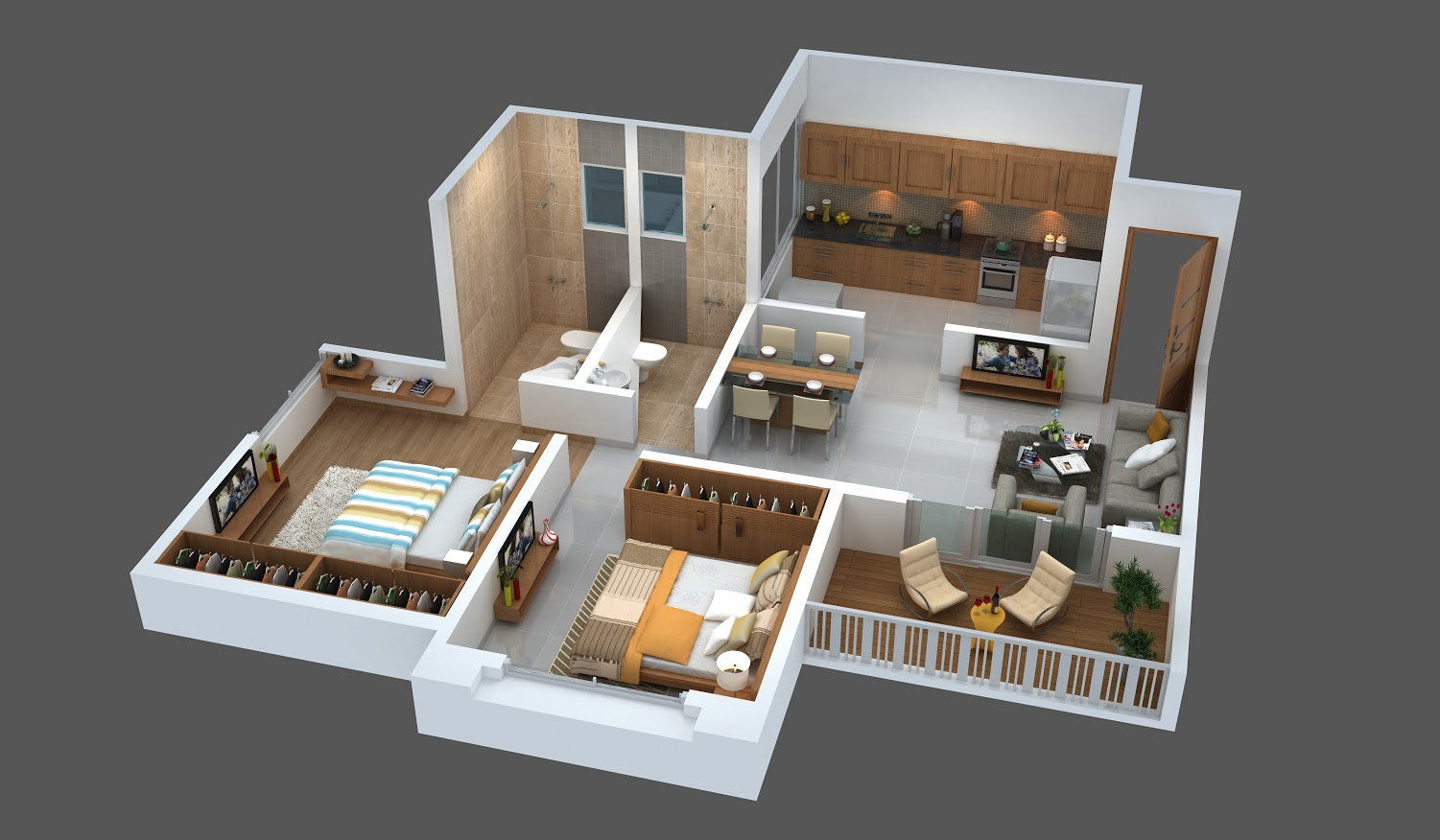 Floor Plans 2 Bhk Flats In Wakad Pune At Mont Vert Sonnet