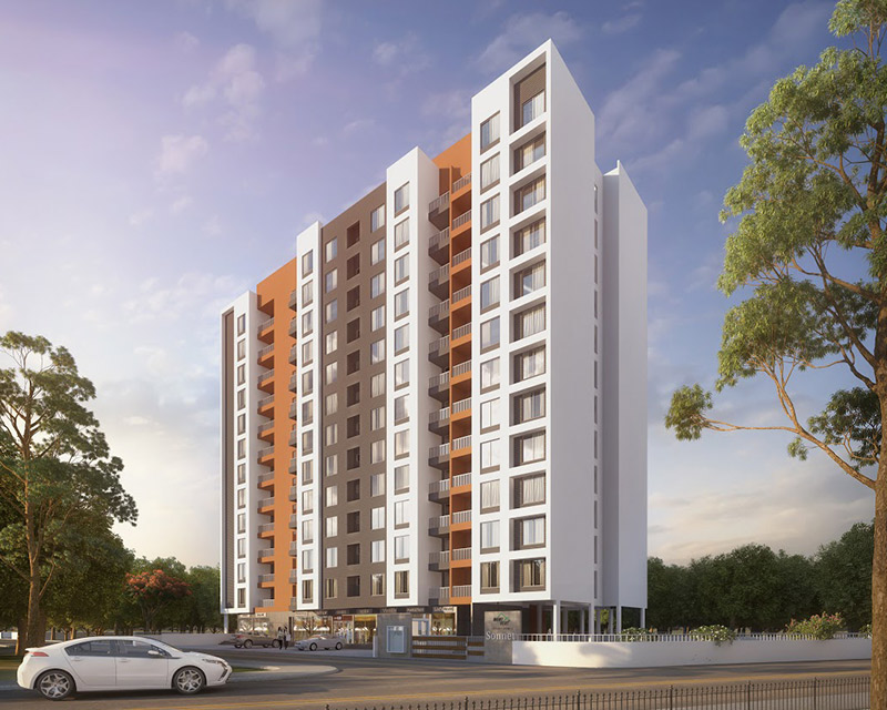 Mont Vert Sonnet 2 BHK Flats In Wakad Elevation