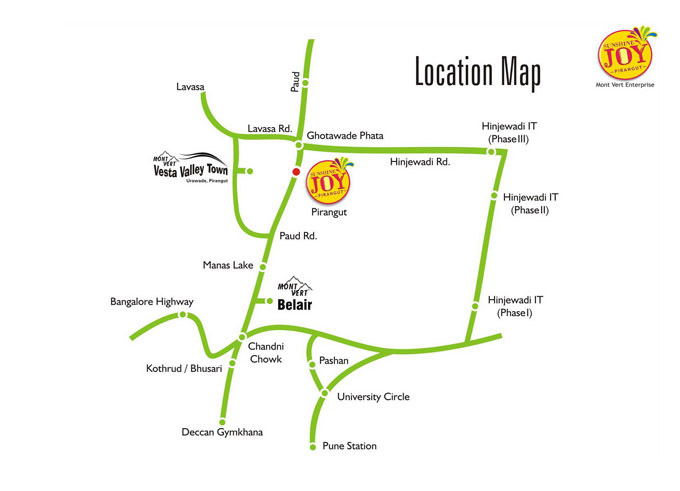 location Map – Mont Vert Sunshine Joy Pune