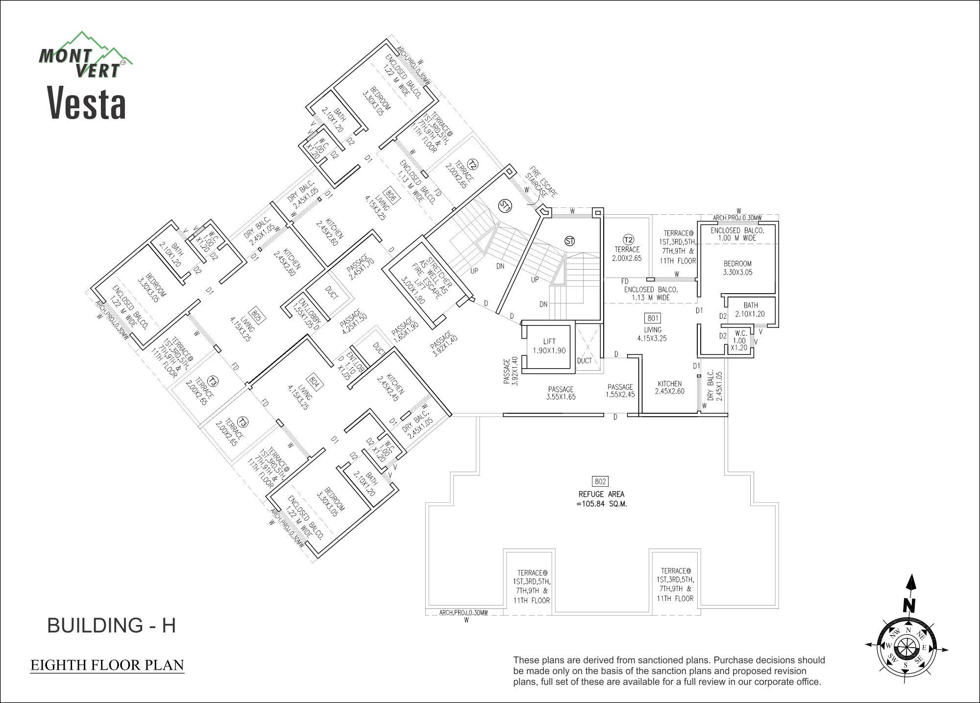 1 BHK 8th Floor Plans – Mont Vert Vesta