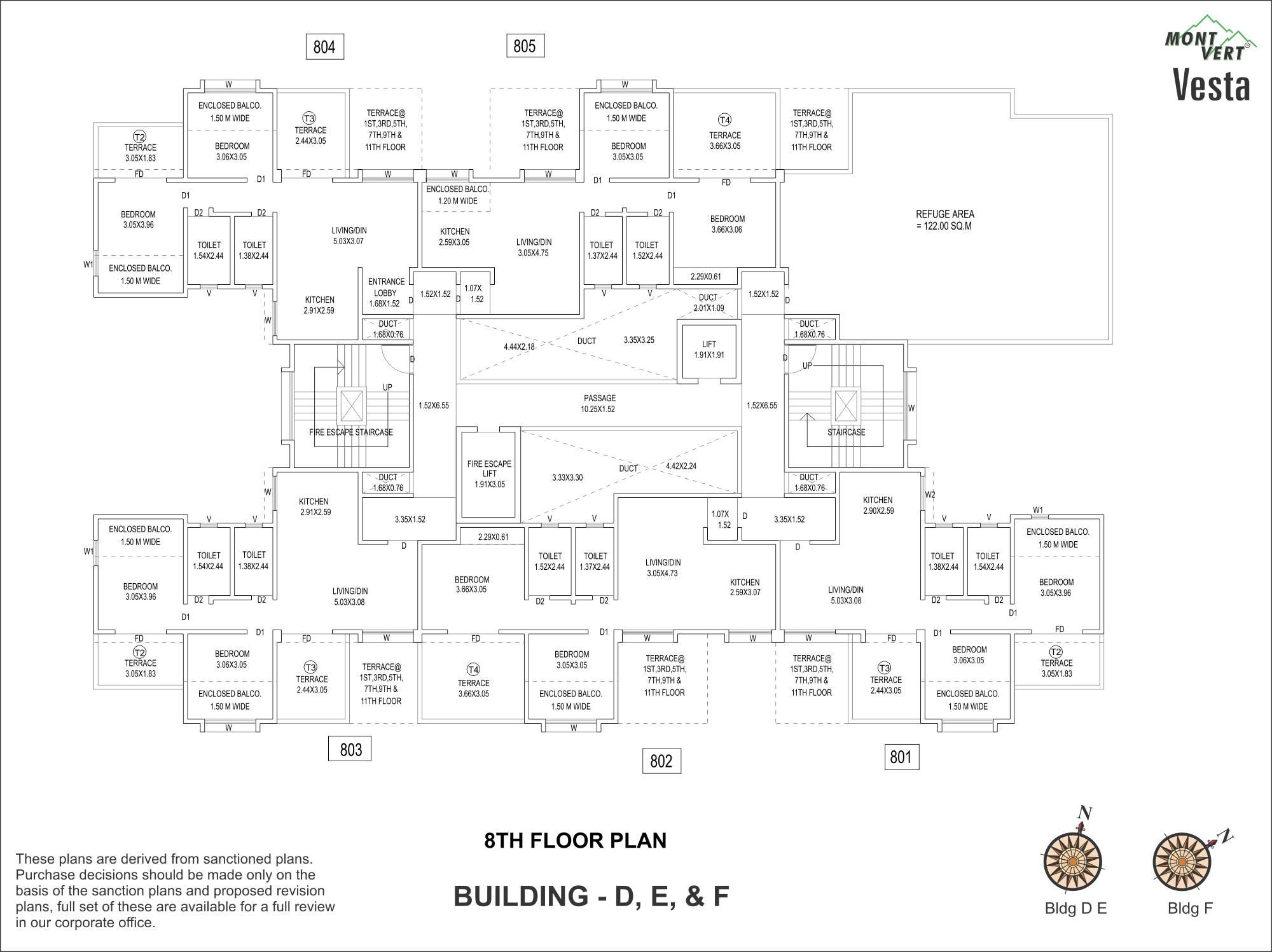 2 BHK 8th Floor Plans – Mont Vert Vesta