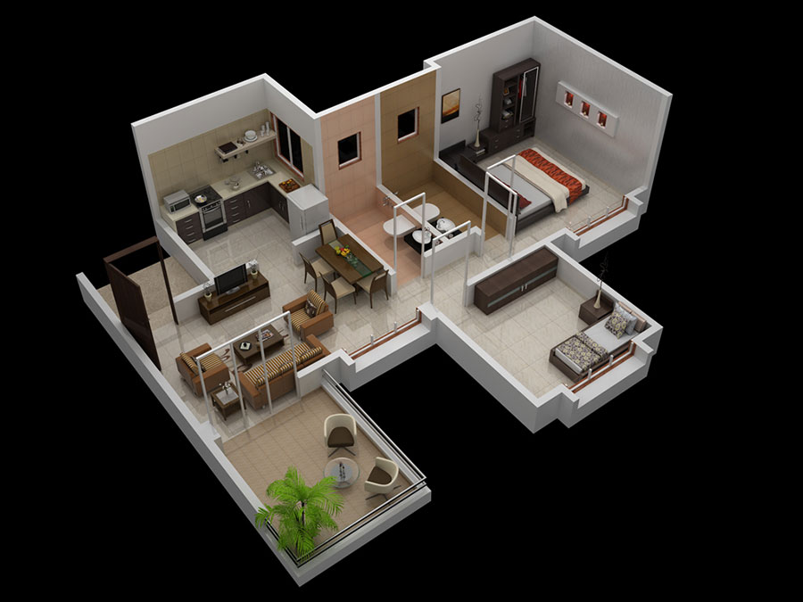 3D 1 BHK Apartments In Pirangut Odd